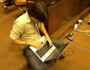 Rodolfo en el Taller de redes sociales y medios alternativos