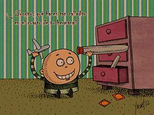 """Juguetes"", una caricatura de Yuset Sama"